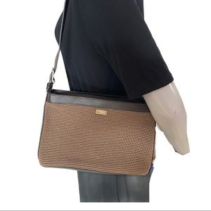 The Sak Elliott Luca Tan and Brown Crochet Purse